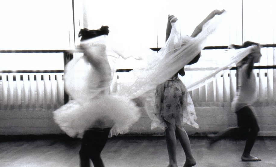 children dancing in Miss Pam's ballet class for children at The Hollywood Dance Center in Los Angeles, CA